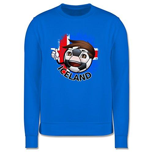 EM 2016 - Frankreich - Fußballjunge Island - Herren Premium Pullover Himmelblau