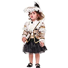 78b490e50d509 Costume di Carnevale da BUCANIERA NEONATA Vestito per neonata Bambina 0-3  Anni Travestimento Veneziano