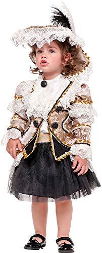 Costume di Carnevale da BUCANIERA NEONATA Vestito per neonata Bambina 0-3  Anni Travestimento Veneziano 5390c9403726