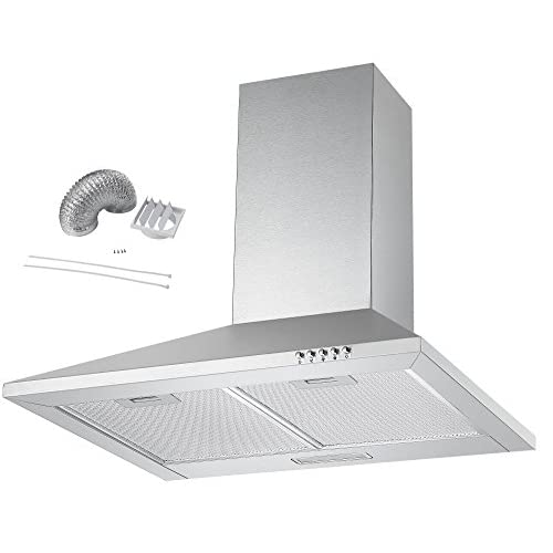 411WeZ1BleL. SS500  - Cookology CH600SS Extractor Fan | 60cm Chimney Cooker Hood in Stainless Steel with Ducting Kit
