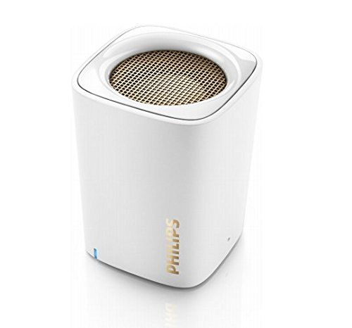 Philips BT100W/00 Wireless Portable Speakers (White)