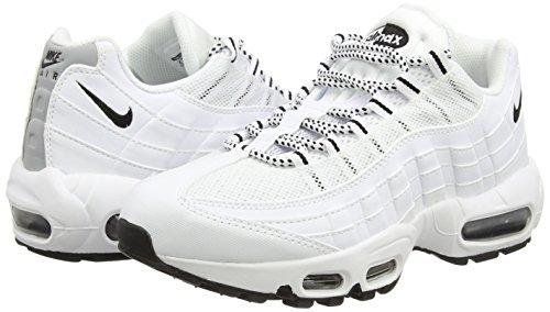 Nike Air Max '95, Chaussures de sport homme blanc (White/Black-Black)