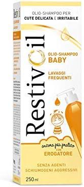 RestivOil Baby Detergente Delicato per Bambini, Olio Fisiologico con Azione Protettiva e Anti Irritante, per l