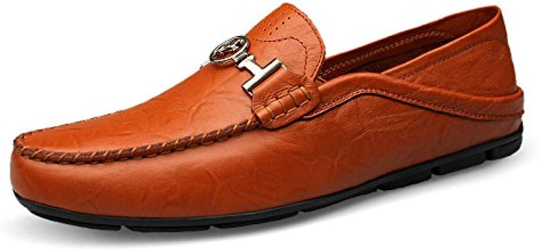 Zapatos De Guisantes para Hombre Zapatos De Cuero De Moda Zapatos De Conducción
