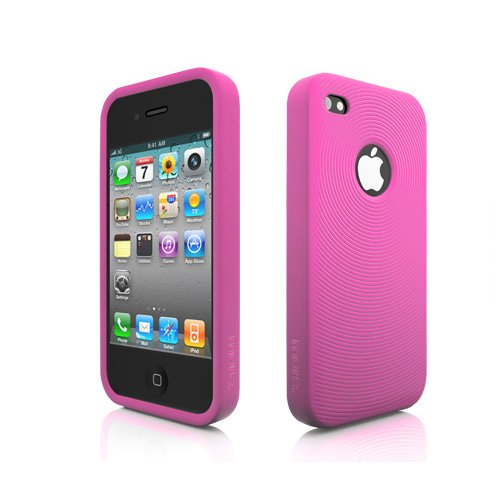 More Swirling Housse en silicone pour iPhone 4 Pourpre Rose