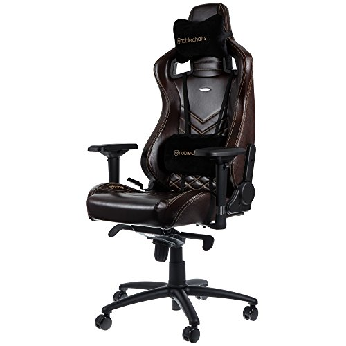 Best Saving for noblechairs EPIC Real Leather Gaming Chair – Brown/Beige with Genuine Real Leather, 2 Year Warranty, Up to 180KG Users, Perfect for an Executive Office Chair, Racing Seat Design on Line
