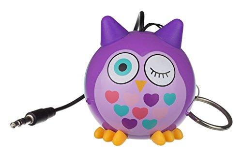 KitSound Mini Buddy Haut-Parleur Universel avec Prise Jack 3.5mm Compatible avec les Smartphones- Tablettes et MP3 - Chouette Violette