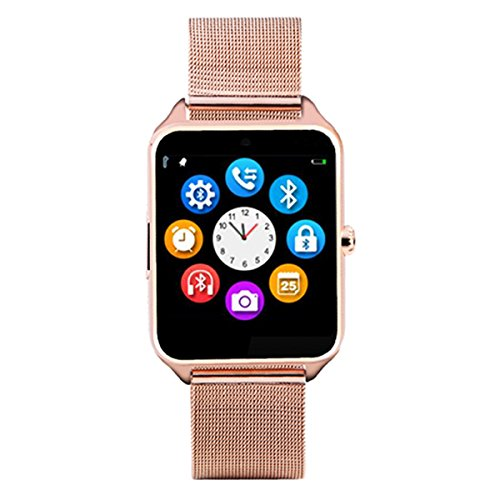 HealthMax HT Z60 Golden Smartwatch Compatible With Huawei Honor 4 Play Mobiles