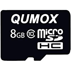 QUMOX 8 Go 8Go Micro SD HC SDHC Carte Mémoire Flash Classe 10 TF