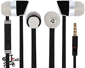 Jkobi Premier Headphones Earphones Handsfree Headset 3.5 mm Jack with Mic Compatible For BlackBerry Curve 9320 -Black