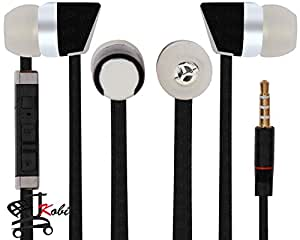 Jkobi Premier Headphones Earphones Handsfree Headset 3.5 mm Jack with Mic Compatible For AlcatelOneTouch Idol 3C -Black