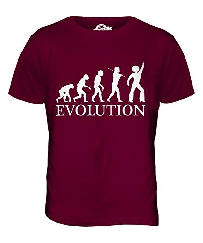 CandyMix Disco Musik Tanzen Evolution Des Menschen Herren T Shirt Burgunderrot