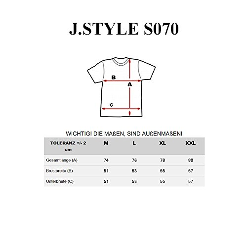 BOLF Herren T-Shirt Tee Kurzarm Aufdruck Print Camo Lang Slim Fit Mix 3C3 Motiv Grau_S070