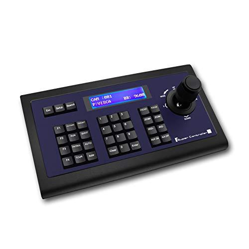Tenveo PTZ Kameras Tastatur Controller für Geschäftskonferenz, PTZ-Controller mit Joystick, Steuerung Tastatur mit LCD Display (TEVO-KZ1)