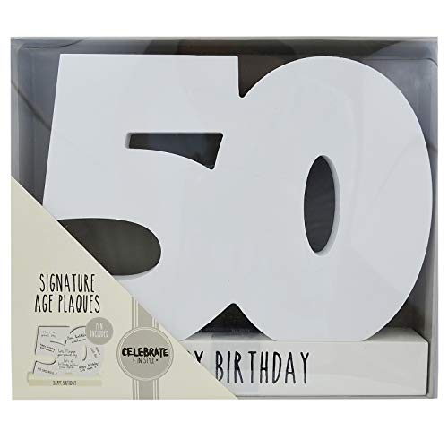 Signature Age Blocks - 50 Happy Birthday