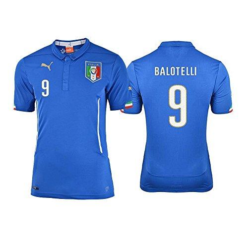 Puma FIGC Balotelli Home Shirt Repl team power blue, Größe Puma:XS - Nationalmannschaft Italienische Trikot