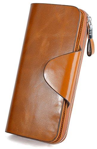 Yaluxe Moda Portafoglio in Vera Pelle Lungo grande Capacità RFID Blocco-Può memorizzare 5.5 '' Telefoni cellulari, Contanti, Monete, tutte le Carte e le Foto