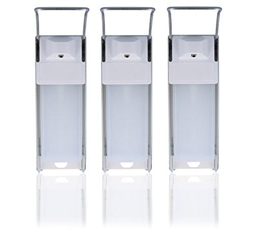 Desinfektionsspender, Desi- Wandspender, Aluminium für 500ml Euroflaschen (3x)