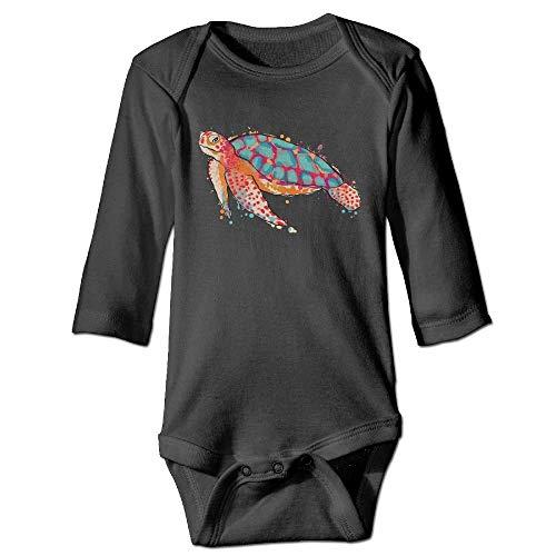 WBinHua Bodys et Combinaisons,Bertha Watercolor Sea Turtle Baby Toddler Long Sleeve Onesies Bodysuits