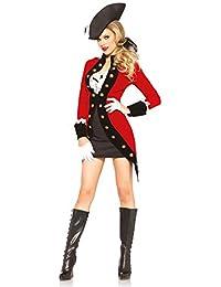 Leg Avenue Costume Pirate Rebel à Manteau pour Femme Rouge/Noir Taille S