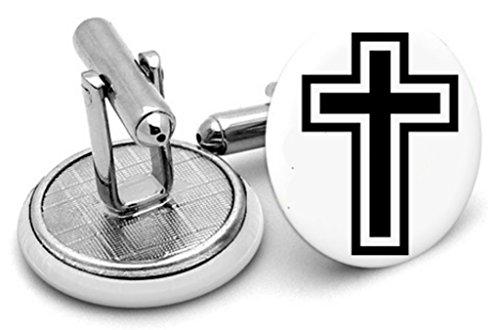 Croix chrétienne Boutons de manchette