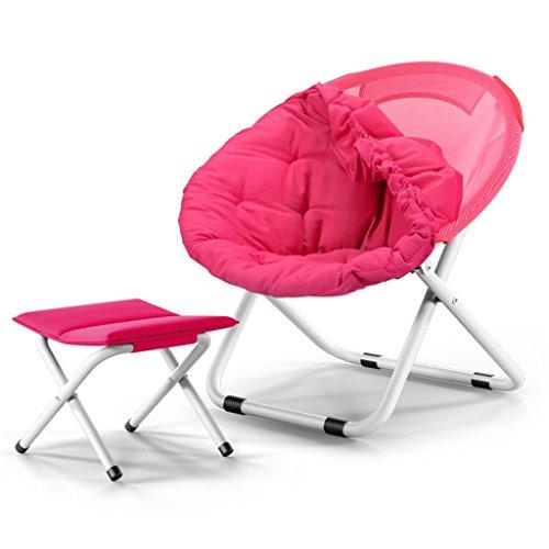 Accueil/Tabouret pour meubles de loisirs intérie Grande chaise de lune pliante adulte Chaise de soleil Tabouret pliable Toile Canapé paresseux Rond Défléchissante portable (couleur multiple) durable