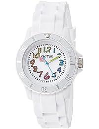 Cactus CAC-62-M11 - Reloj de pulsera niños, Plástico, color Blanco