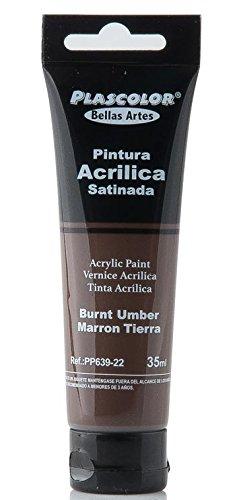 plascolor pp639-22-Acrylfarbe, 35ml, Farbe Erde Schatten gebrannt