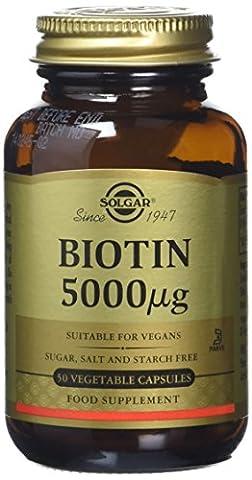 Solgar 5000 mcg Biotin Vegetable Capsules - 50 Capsules