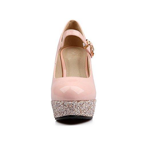 BalaMasa tacco da donna brillante materiale morbido pompe-Shoes Pink