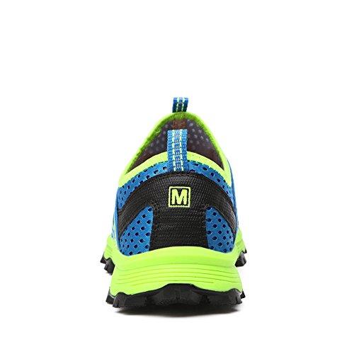 Chaussures De Course À Pied En Maille Coulissante Légère Pour Hommes Sneakers Sneakers Occasionnels Bleu