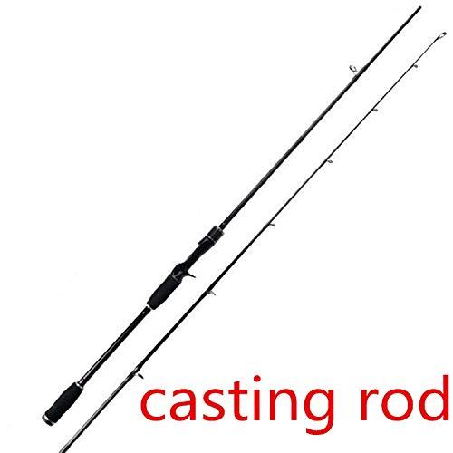Schwarz superharten Casting Angelrute Spinnrute 1.98m / 2.1m M Power Carp Vara de Pesca Köder Spinning Fishing Pole, Schwarz, 2.1m