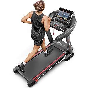 Sportstech F37 Profi Laufband 7PS bis 20 km/h, Selbstschmiersystem, Smartphone Fitness App, 15% Steigung, Bluetooth MP3, große Lauffläche mit 8 Zonen Dämpfungssystem bis 150 Kg – klappbar