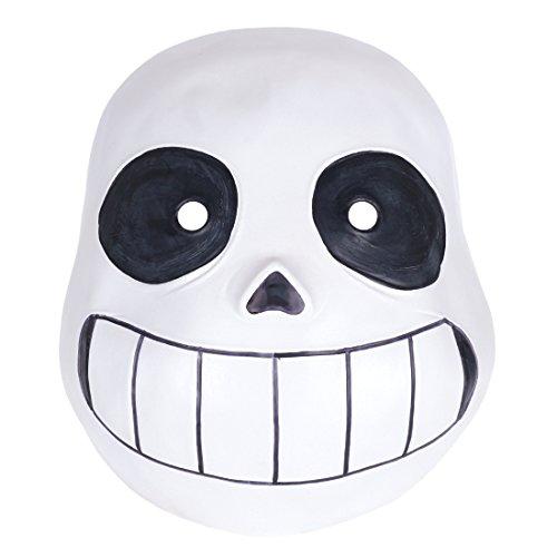CoolChange Undertale Latex Totenschädel Maske - Undertale Cosplay Kostüm
