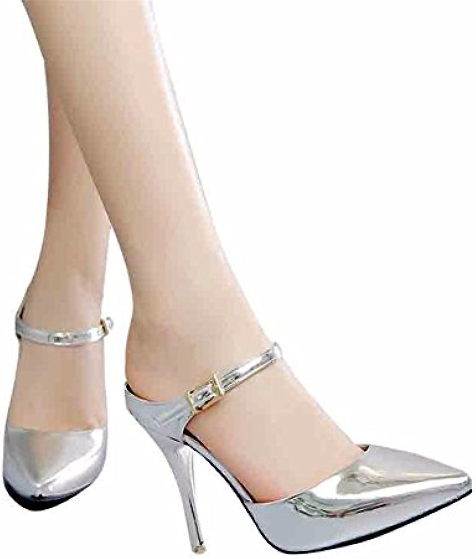YUCH La Mujer Zapatillas High-Heeled Spiked Volver Zapatos De Aire