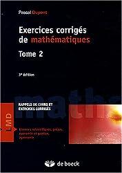 Exercices corrigés de mathématiques : Tome 2