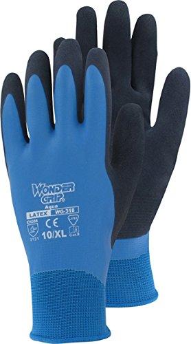 Aqua - Nylon - Strickhandschuh mit Latex SB - Karte Wondergrip Größe 11 - XXL