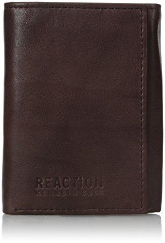 Kenneth Cole REACTION mens  Men's Rfid Blocking Crunch Trifold Wallet Wallet