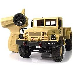 camiones de juguete grandes control remoto Sannysis camiones rc coches juguetes Tienda de camiones Grado de juguete 4wd 1/16 RC Military Truck Coche teledirigido inalámbrico (Caqui)