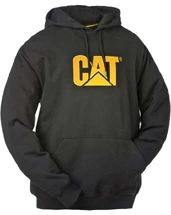 Caterpillar Mens Trademark Hooded Sweatshirt Black Size Small