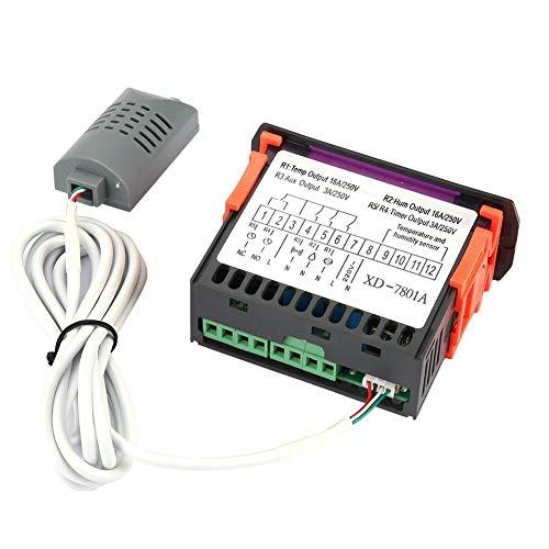Aufee Controlador de Humedad de Temperatura, 100-240VAC Controlador In