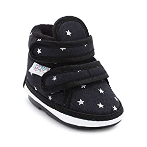 CHIU Chu-Chu Black Shoes With Double Strap For 9-12 Months