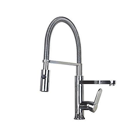 YLSZ-Robinets de lavabo Robinet de cuisine complète équipée d'eau chaude et froide tirer