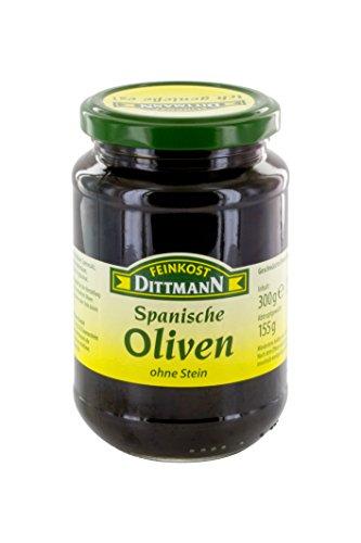 Feinkost Dittmann Geschwärzte Oliven ohne Stein, 155 g
