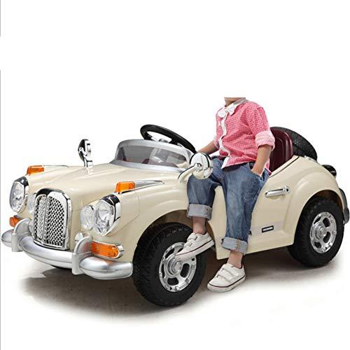 HeiDan Kinder Elektroauto Kinderwagen Allradantrieb Doppelantrieb Fernbedienung Kann Elektroauto Oldtimer Baby Spielzeugauto Nehmen,Red
