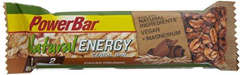 PowerBar Energieriegel mit komplexen Kohlenhydraten für Energie beim Sport – Power-Riegel, Fitness-Riegel, Müsli-Riegel mit Vollkornhaferflocken – Vegan – 24 x 40g Cacao Crunch