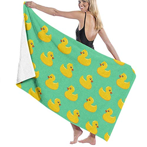 xcvgcxcvasda Serviette de bain, Microfiber Beach Towels for Travel Tropical & Fun Novelty Rubber Duck Beach Towel Prints for Beach, Travel, Cruise, Outdoor, Thick Beach Towels 32