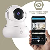 Littlelf Dome Überwachungskamera Indoor Camera babyphone 1080P Full HD IP Cam Motorisiertes PTZ - Audio bidirektional Bewegungserkennung Nachtsicht Service - Weiße