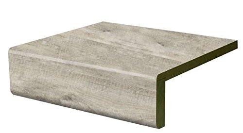 Treppenstufe Renovierungsstufe Vinylstufe gerade Vorderkante White Raw Timber (1000 x 740)