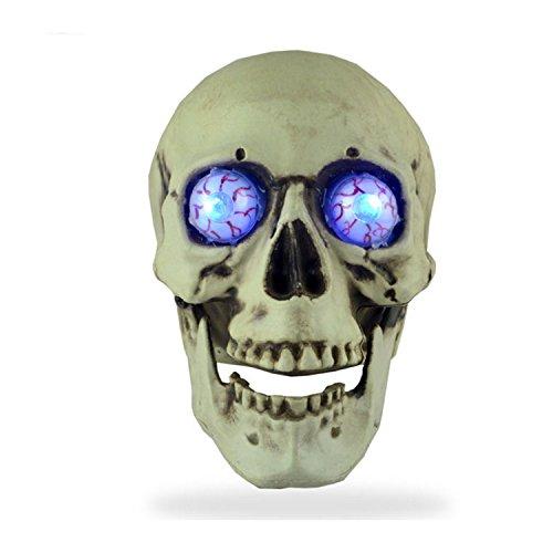 Schädel mit Horror Augapfel, Geschnitzte Schädel Kopf Modell Deko, Totenkopf Halloween/Room Escape Requisiten/Spukhaus Dekoration, circa 14 * 18cm (Lebensgroße Halloween Requisiten)